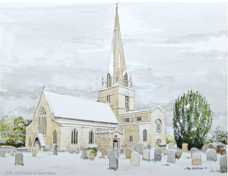 The Church of Saint Mary, Bampton in winter, Oxfordshire – OXL10